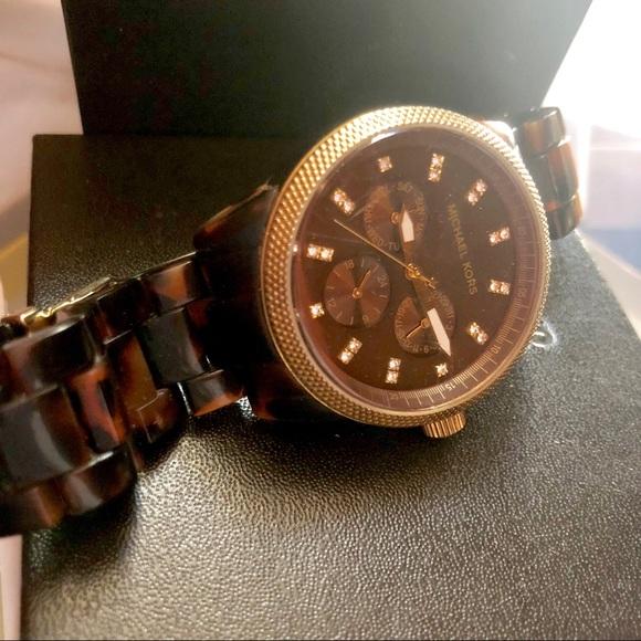 25f301a8bda0 Michael Kors MK5038 Tortoise Chronograph Watch. M 5bfec6065c44525b6ef6a6af